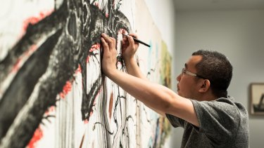 Sun Xun's Untitled (MCA Residency Painting), 2018.