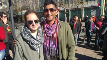 Cal Graham and Girish Sagaram said the mood was more optimistic compared to other rallies they had been to.