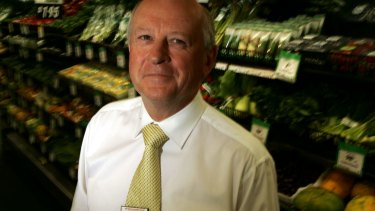 Former Woolworths chief Roger Corbett (pictured) has refused to comment on whether Brad Banducci is the right man to lead the Woolworths' turnaround.