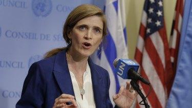 Samantha Power, the US ambassador to the UN.