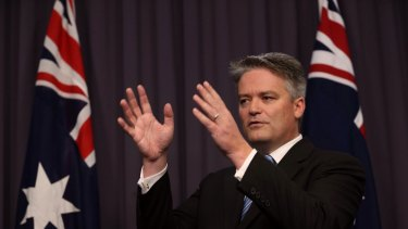 Tap dancing: Senator Mathias Cormann.