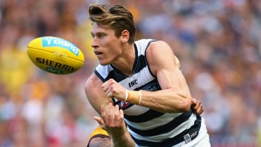 Best and fairest: Mark Blicavs of the Cats.