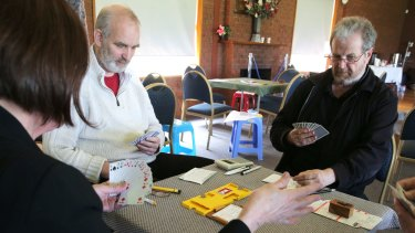 Hoping to come up trumps: Bridge players.