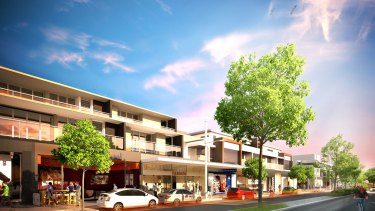 An artist impression of the new Ingleside town centre.