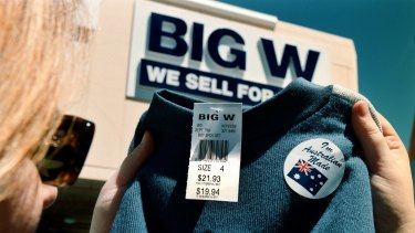 Big W will focus on children's products and homewares.