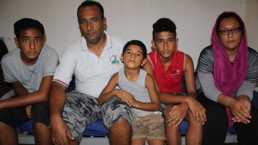 The Badawi family, including eldest sons Ahmed (left) and Mohammad (second from right).