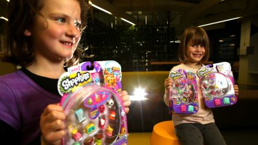 Bridget Lavelle and Sidney Silkstone are seen playing with Shopkins.