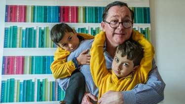 Archie Celments and his sons Rufus and Jasper, 6 ahead of Fathers Day 2017.