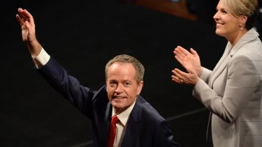 Opposition Leader Bill Shorten arrives at the Australian Labor Party 2016 Federal Election Campaign Launch at the Joan Sutherland Performing Arts Centre, in Penrith, NSW.