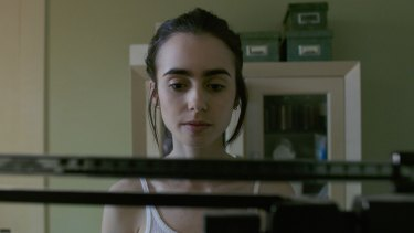 Lily Collins in Netflix's <i>To The Bone</I>, which has drawn fire from youth mental health groups for its depiction of anorexia.