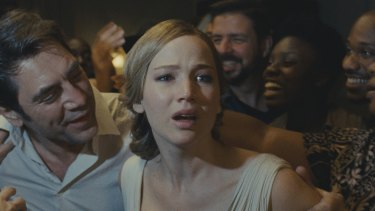 Wildly ambitious: Javier Bardem and Jennifer Lawrence in Mother!