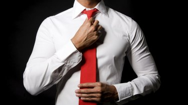 """Your red """"power tie"""" may also make you seem angry and aggressive."""