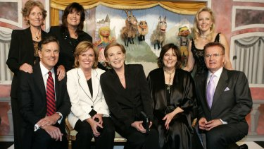 Charmian Carr, top left, with other cast members in this 2005 picture. Clockwise from top left are, Carr, Debbie Turner (Marta), Kym Karath (Gretl), Duane Chase (Kurt), Angela Cartwright (Brigitta), Julie Andrews (Maria von Trapp), Heather Menzies (Louisa) and Nicholas Hammond (Freidrich).