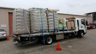 Fertiliser seized from the Acacia Ridge warehouse.