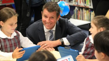 NSW Premier Mike Baird and Education Minister Adrian Piccoli make an announcement about STEM education at Brookvale Public School,