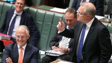 """Treasurer Scott Morrison says Australia appeared to be managing a successful transition from the investment phase of the mining boom to """"a more broader-based economy""""."""