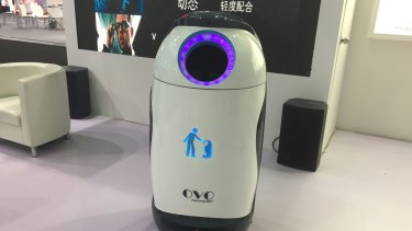 Ovo the robot rubbish bin ensures there's always a bin at hand when you need one.
