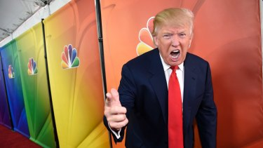 'You're fired!': Donald Trump while host of The Celebrity Apprentice in 2015.