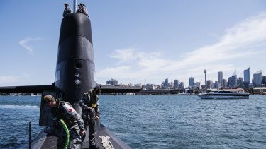 HMAS Rankin during a day of exercises in Sydney Harbour.
