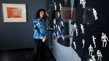 Artist Judy Watson's work Our skeletons in Your Closets, inspired by Aboriginal protester Anthony Martin Fernando, is part of Unsettled at the National Museum of Australia.