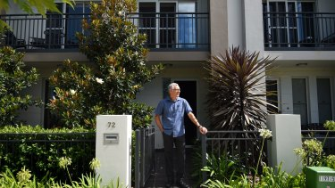 Graham Collins, 60, outside his terrace home at Thorton Estate in Penrith.