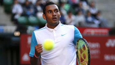 Torrid tournament: Nick Kyrgios received a warning for an obscenity.