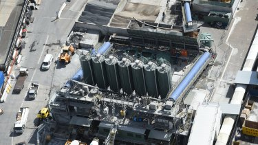 Taking shape: A view from the top of Tower 2 of the Barangaroo South Lend Lease site.
