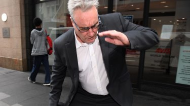 As if the ATO cold do with more bad news. ATO deputy commissioner Michael Cranston, pictured outside court last month, allegedly attempted to access information for his son.