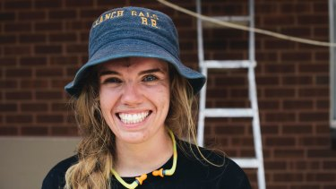 Apprentice carpenter Bella Rogers was accepted to art school but decided on carpentry.