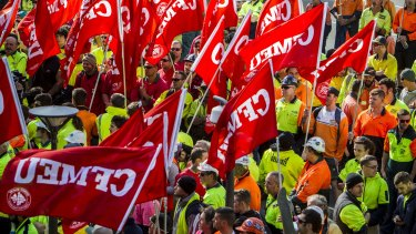 """A judge has condemned the CFMEU's """"notorious"""" history of flouting the law."""