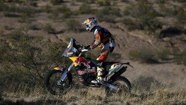 Australia's Toby Price is leading the Dakar Rally.
