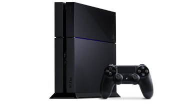 The PlayStation 4 gaming console.