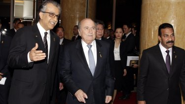 Football bosses: AFC President Shaikh Salman bin Ebrahim Al Khalifa with FIFA President Joseph Blatter. Salman said he was aware of dissatisfaction with Australia's membership of the AFC.