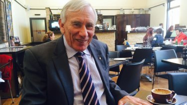 James Wood, former judge and royal commissioner, at the Hyde Park Barracks Cafe.