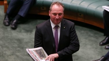 Agriculture Minister Barnaby Joyce will pick up responsibility for water policy and the Murray Darling Basin Authority under the new deal.