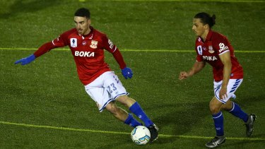 Fill the cup: Sydney United in last year's FFA Cup round of 32 match against Blacktown City.