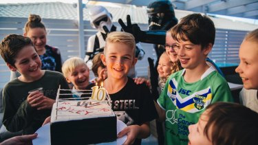 Pure joy: my son Riley's 10th birthday party, and not a parent in sight.
