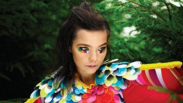 Bold Bjork: she has never shied away from daring fashion choices.
