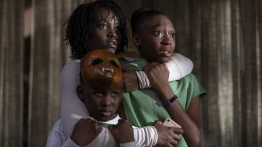 Us sees a family terrorised by their doppelgangers - the film is inspired by a recurring nightmare in Peele's childhood.