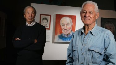 Then and now: Retired psychiatrist Dr Valent and artist Jeffrey Kelson.