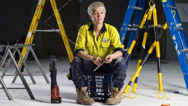 Plumbers like Jessica Gardiner can be the subject of benevolent sexism.
