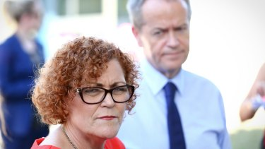 Opposition Leader Bill Shorten with Labor's candidate for Herbert Cathy O'Toole.