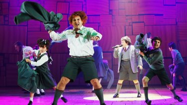 The dramatic flow of Matilda the Musical is carried by the terrific chorus of young performers.
