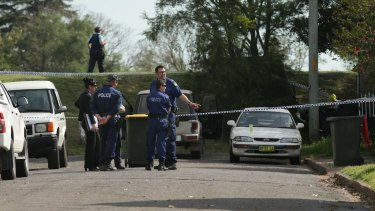 Police in Maitland after a woman was shot dead in Horseshoe Bend.