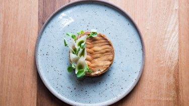 Pine mushroom tartlet at Omnia.