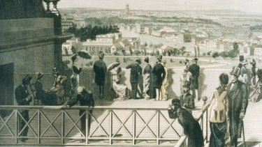 The view from the promenade deck in 1880, reproduced from the <i>Illustrated Australian News</i>.