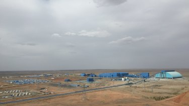 The compound at the Oyu Tolgoi mine.