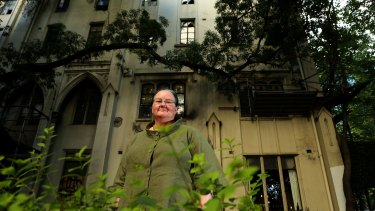 Ruth Davies at the Princess Mary Club on Lonsdale Street. She lived at the club in the 1980s and has been part of a protest to stop it from being demolished.