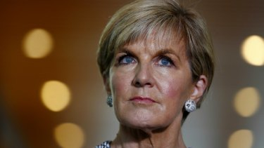 Foreign Minister Julie Bishop is in New York to attend the United Nations.