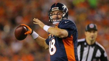 Peyton Manning broke Brett Favre's record.